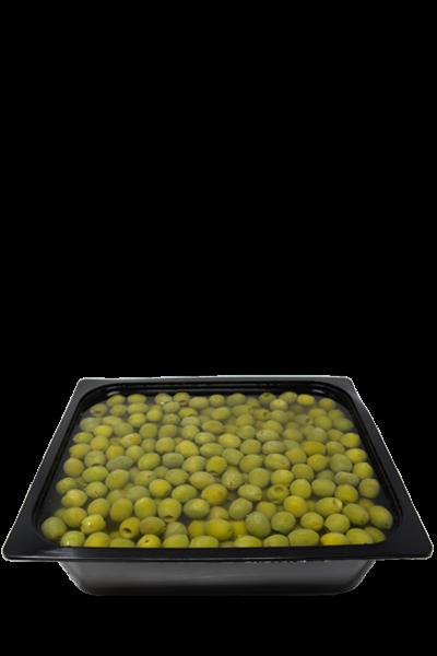 olive in vasca denocciolate - Geolive Belice, azienda leader nella produzione di olive Nocellara del Belìce DOP, Castelvetrano, Trapani.